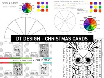 COLOUR THEORY | Christmas Colouring Cards