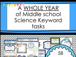 Distance Learning:  KS3 Science Keyword Tasks