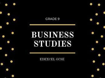 GCSE EDEXCEL BUSINESS FLASHCARDS THEME 1