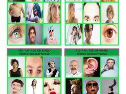 People Descriptions Tic-Tac-Toe or Bingo