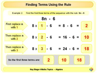 Linear Sequences - Finding Terms and Rules KS4
