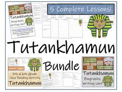 UKS2 History - Bundle of Activities about Tutankhamun