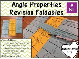 Missing Angle Properties Revision Note Foldables