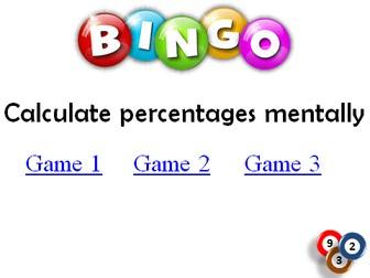 BINGO: Calculate Percentages Mentally