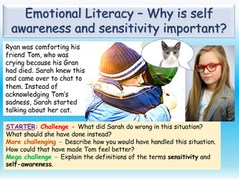 Emotional Literacy - Self Awareness PSHE