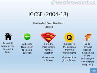 IGCSE past paper Questions (Old course 2004-18) Edexcel