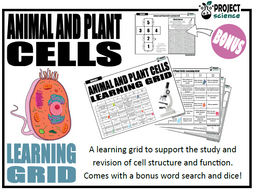 Animal and Plant Cells Learning Grid