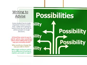 Writing to Advise - Language Paper 2