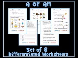 'a' or 'an' Worksheets