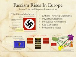 Fascism Rises In Europe Power Point and Keynote Presentations