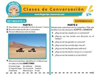 Experiencias - Spanish Speaking Activity