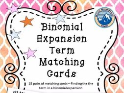 Binomial Term Matching Card Set