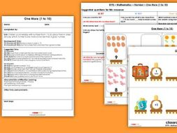 EYFS Maths Number - One More 1-10 Planning, Resources & Observation Pack