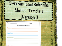 Diffeiated Scientific Method Template Version 1