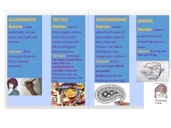 Ks3 Yr7Intro to Art questions and Diagnostic project to assess strengths/skills