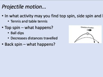 A-Level PE: linear & angular motion, fluid mechanics, projectile motion