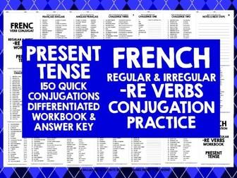 FRENCH -RE VERBS CONJUGATION PRESENT TENSE