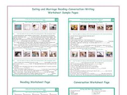 Dating and Marriage Reading-Conversation-Writing Worksheets
