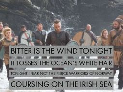 Unseen Poetry: Tonight I fear not the Vikings