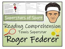UKS2 Literacy - Roger Federer Reading Comprehension Activity