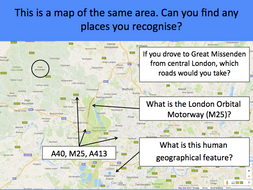 A Contrasting UK Locality - KS2 - Location of Great Missenden