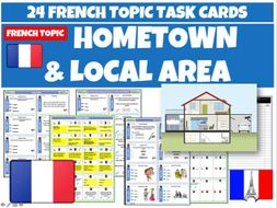 Hometown and Local Area  French Task Cards