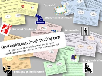 Questions + Answers (facts/statistics) French Speaking Exam (A level)