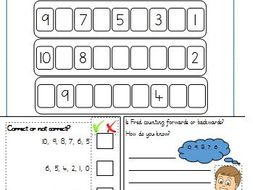 counting backwards worksheets year 1 by gibbonsjack teaching resources. Black Bedroom Furniture Sets. Home Design Ideas