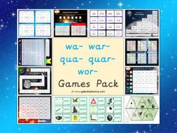The Mixed wa- war- qua- quar- and wor- Games Pack (Year 2)