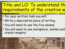 KS3 Creative Writing One-Offs