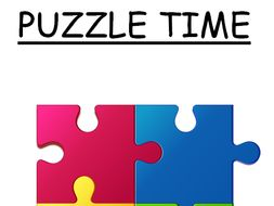 Puzzle Time - series of brain teasers
