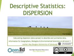 Descriptive Statistics: DISPERSION