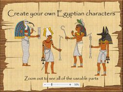 Ancient Egypt create your own gods and goddesses