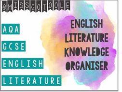 English Literature Knowledge Organiser/ Writing Mats (AQA)