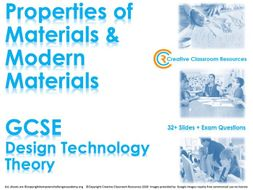 GCSE DT Theory (New Spec) – Modern Materials and Properties of Materials