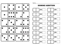 Basic ADDITION using DOMINOES (Full set 0-0 to 12-12 with