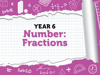 Year 6 - Fractions - Week 7