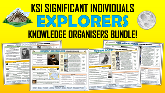 KS1 Significant Individuals - Explorers - Knowledge Organisers Bundle!