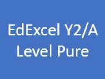 EdExcel A Level Pure Maths Year 2 - Student Chapter Booklets and Dr Frost Presentation