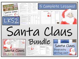 LKS2 Literacy - Santa Claus Reading Comprehension & Biography Bundle