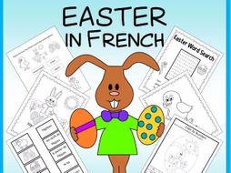 Easter in French - vocabulary sheets, printables, matching game