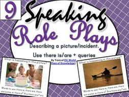 speaking role play cards esl pack 9 describing a picture incident