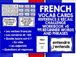 FRENCH VOCABULARY CARDS 5