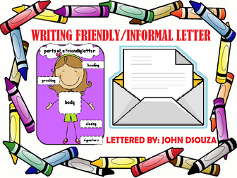 INFORMAL LETTER WRITING: LESSON AND RESOURCES