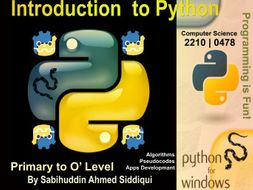 Introduction to Python 3.5/6   Primary to O' Level Series 6