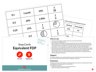 Equivalent FDP (Snap Cards)