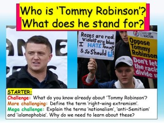 Tommy Robinson - Extremism