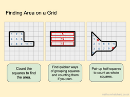 Area of Straight-Edged Shapes on Grids - Presentation & Differentiated Worksheets