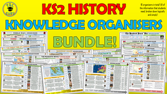 KS2 History Knowledge Organisers Huge Bundle!