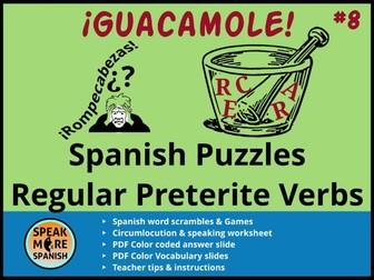 Spanish Puzzles and Games *Regular Preterite* Rompecabezas y Juegos del pretérito regular en español